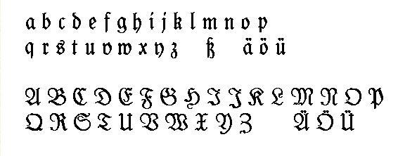 Fraktur-Schrift