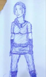 Junge Frau in herbstlicher Kleidung.
